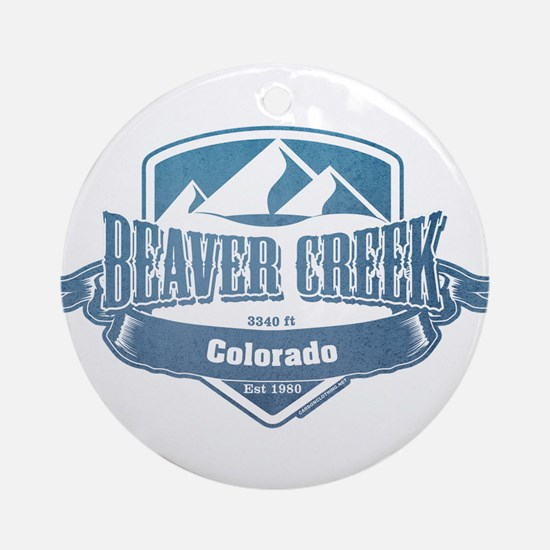 Beaver Creek Colorado Ski Resort 1 Ornament (Round