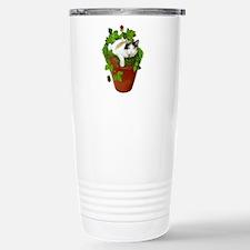 Flowerpot Cat Travel Mug