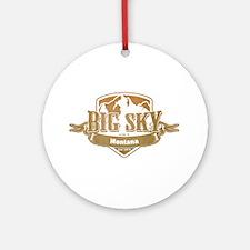 Big Sky Montana Ski Resort 4 Ornament (Round)