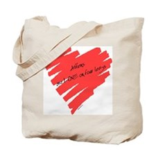 Affen Love on 4 Legs Tote Bag