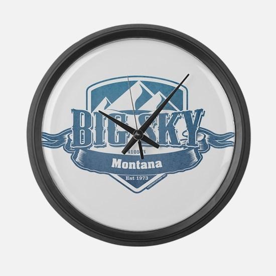 Big Sky Montana Ski Resort 1 Large Wall Clock