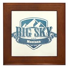 Big Sky Montana Ski Resort 1 Framed Tile