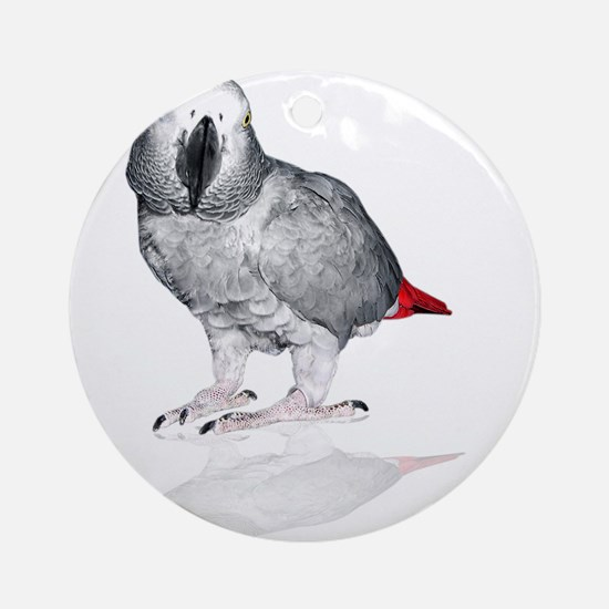 African Grey Parrot Ornament (Round)