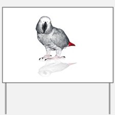 African Grey Parrot Yard Sign