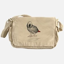 African Grey Parrot Messenger Bag