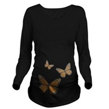 Monarch Long Sleeve Dark Maternity T-Shirt