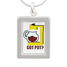Coffee Pot Portrait Necklace