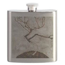 Small Tree in Late Autumn by Egon Schiele Flask
