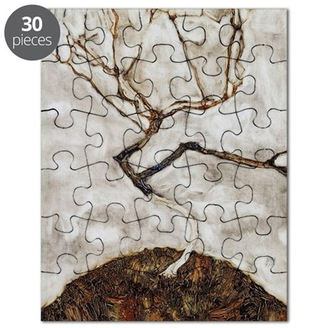 Small Tree in Late Autumn by Egon Schiele Puzzle