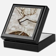 Small Tree in Late Autumn by Egon Sch Keepsake Box