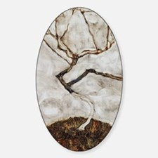 Small Tree in Late Autumn by Egon S Sticker (Oval)