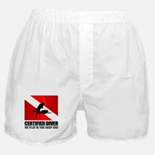 Certified Diver (Deep End) Boxer Shorts