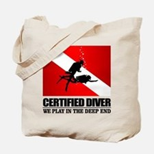 Certified Diver (Deep End) Tote Bag