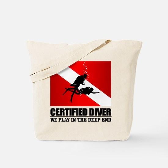 Certified Diver (Deep End) Tote Bag