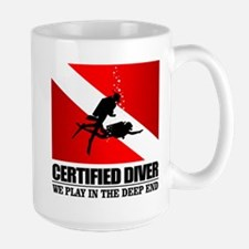 Certified Diver (Deep End) Mugs