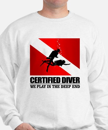 Certified Diver (Deep End) Sweatshirt
