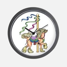 Chinese Crested Carousel Wall Clock
