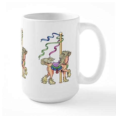 Chinese Crested Carousel Large Mug