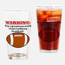 Spontaneous Football Talk Drinking Glass