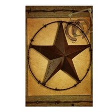 texas star horseshoe west Postcards (Package of 8)