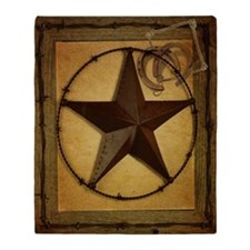 texas star horseshoe western Throw Blanket