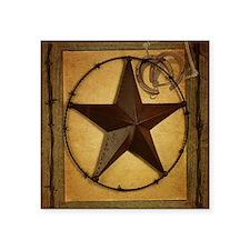 "texas star horseshoe wester Square Sticker 3"" x 3"""