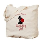 1 Ladybug Birthday Girl - Your Name Tote Bag