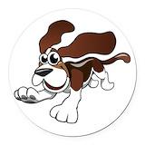 Basset hound Round Car Magnets