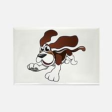Cartoon Basset Hound Magnets