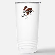 Cartoon Basset Hound Travel Mug