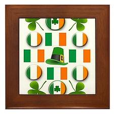 IRISH SHAMROCKS Framed Tile