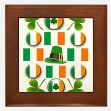 IRISH SHAMROCKS Framed Tile