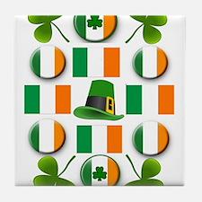 IRISH SHAMROCKS Tile Coaster