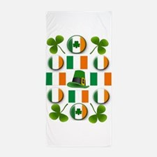 IRISH SHAMROCKS Beach Towel
