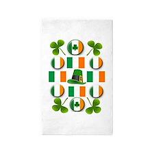 IRISH SHAMROCKS 3'x5' Area Rug