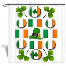 IRISH SHAMROCKS Shower Curtain
