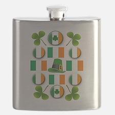 IRISH SHAMROCKS Flask