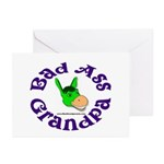 Bad Ass Grandpa Greeting Cards (Pk of 10)
