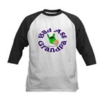 Bad Ass Grandpa Kids Baseball Jersey