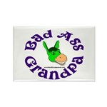 Bad Ass Grandpa Rectangle Magnet (10 pack)