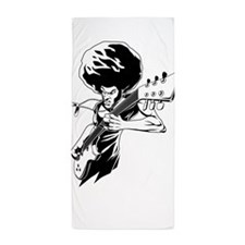 Afro rock guitarist Beach Towel