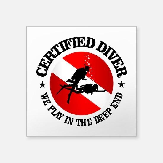 Certified Diver (Deep End) Sticker