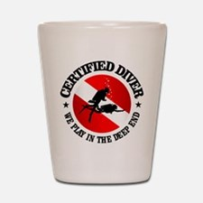 Certified Diver (Deep End) Shot Glass