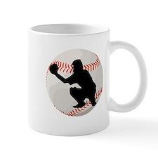Baseball Catcher Silhouette Mugs