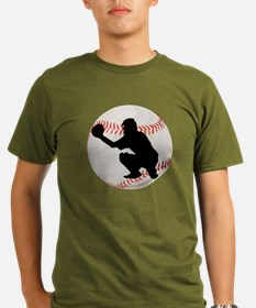 Baseball Catcher Silhouette T-Shirt