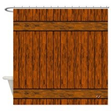 Wood Plank Decor Shower Curtain