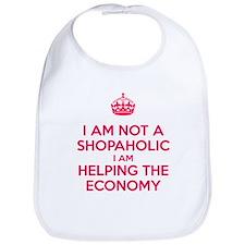 I am not a Shopaholic Bib