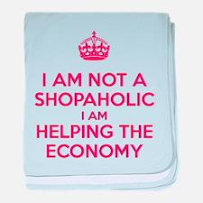 I am not a Shopaholic baby blanket