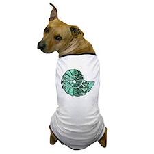 Green Stone Nautilus Shell Dog T-Shirt