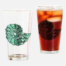 Green Stone Nautilus Shell Drinking Glass